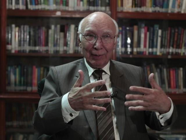 Adviser to Prime Minister on Foreign Affairs Sartaj Aziz. PHOTO: REUTERS