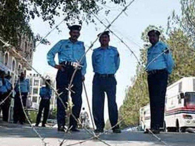 Photo of Islamabad police. PHOTO: AFP