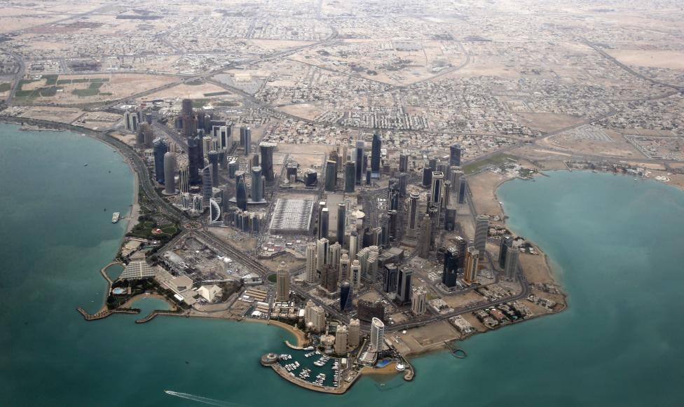 An aerial view shows the diplomatic area of Doha, Qatar. PHOTO: REUTERS