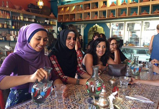 Women at Hana Assafiri's Muslim speed-dating event in Melbourne on Sunday. Photo: Melissa Davey/ Guardian