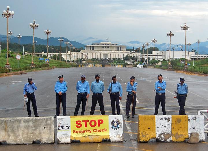 A file photo of Islamabad police. PHOTO: MUHAMMAD JAVAID/EXPRESS