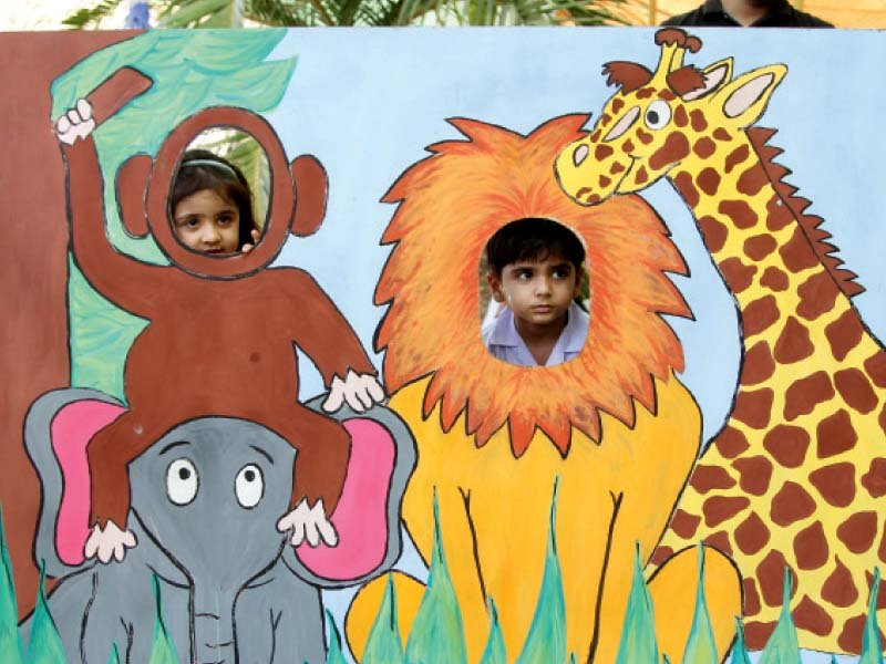 Over 25 stalls featuring various games and activities were set up in the Mughal Bagh of the zoo. PHOTOS: AYSHA SALEEM/EXPRESS