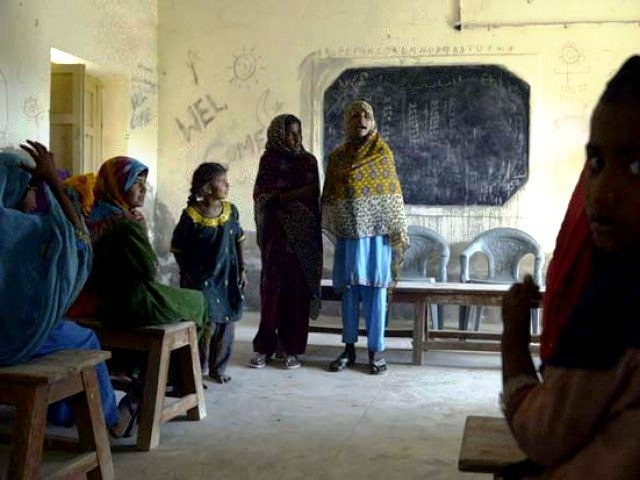 New report puts Punjab, K-P ahead of Sindh, Balochistan on various educational parametres.  PHOTO: AFP
