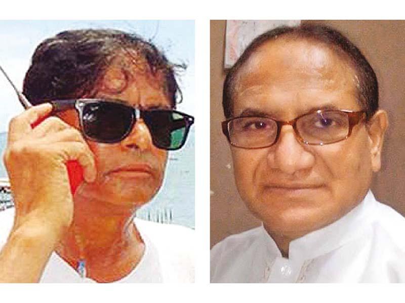 Qaiser Mastana (left) and Munir Nadir (right) passed away recently. PHOTOS: FILE