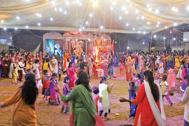 Celebrating victory: Navratri, which means nine nights, is observed every year to pay homage to Hindu deity Durga and to celebrate Ram's victory over Ravana, which symbolises the victory of good over evil. PHOTOS: AYESHA MIR/EXPRESS