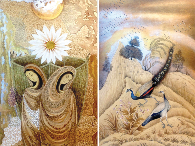 Two miniatures of NH Kazmi on display at Nomad Gallery. PHOTOS: MARYAM USMAN/EXPRESS