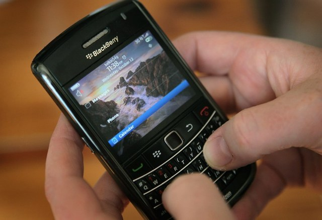 5 million Indonesian users are accessing BBM from their BlackBerry device. PHOTO: AFP