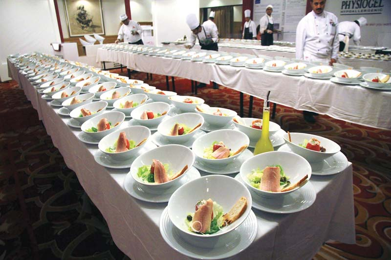 The beautifully plated food at the Belgian Food Festival wowed participants. PHOTOS: ATHAR KHAN/EXPRESS