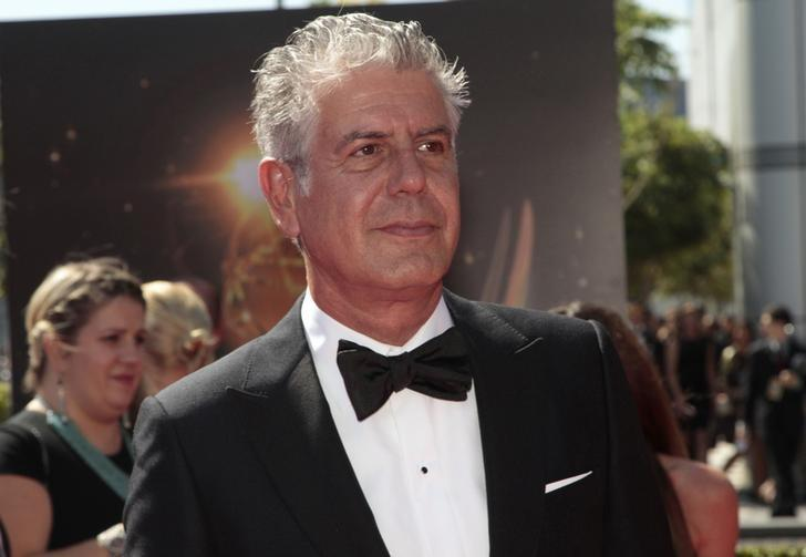 Chef and television personality Anthony Bourdain arrives at the 65th Primetime Creative Arts Emmy Awards in Los Angeles, California September 15, 2013. REUTERS/Jonathan Alcorn