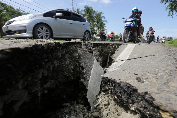 No casualties have been reported. PHOTO: REUTERS