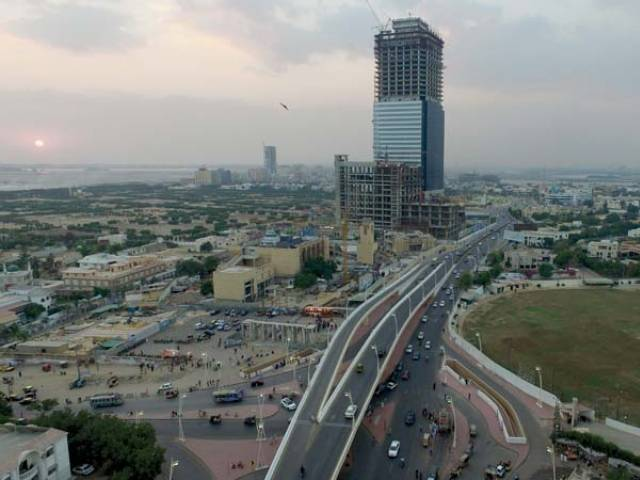 Aerial view of Bahria Town in Karachi. PHOTO: AFP