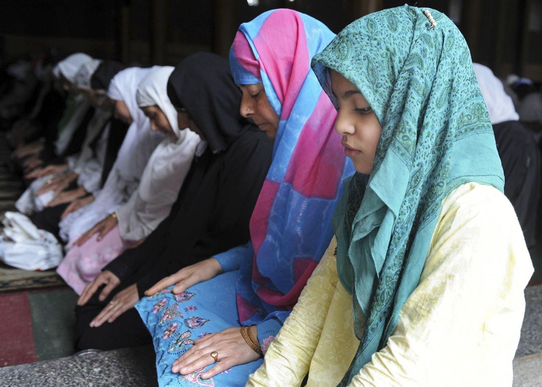 A file photo of Kashmiri women praying in a mosque. PHOTO: AFP
