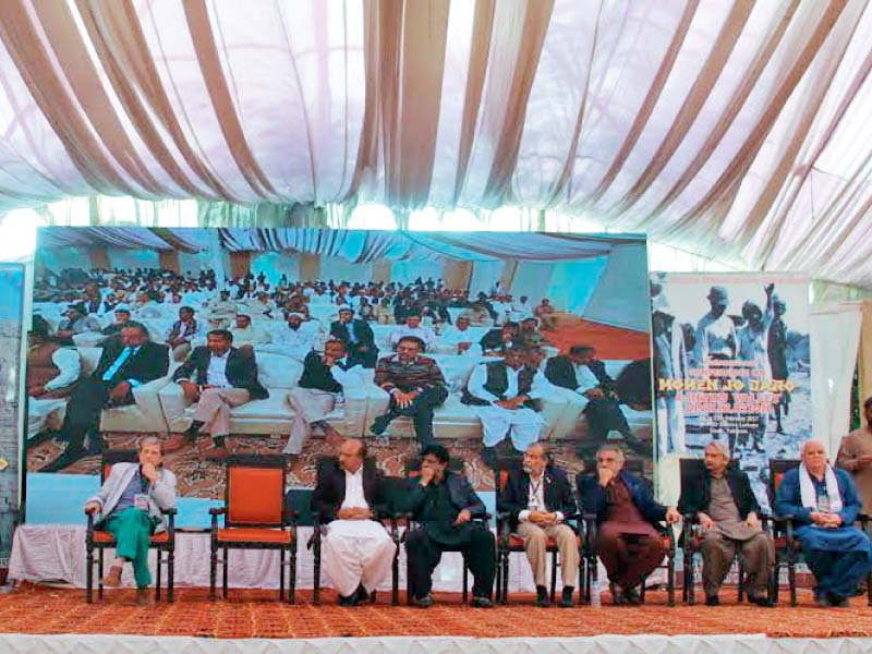 The three-day International Conference on Mohen Jo Daro, the first major conference to be held in Mohen Jo Daro since 1973, concluded on Saturday. PHOTO: AYESHA MIR/EXPRESS