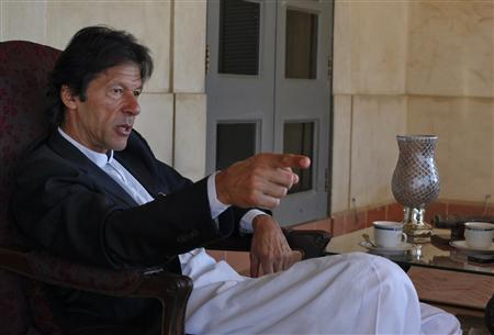 Imran Khan, Pakistani cricketer turned politician, speaks during an interview at his residence in Islamabad November 16, 2011.  PHOTO: REUTERS