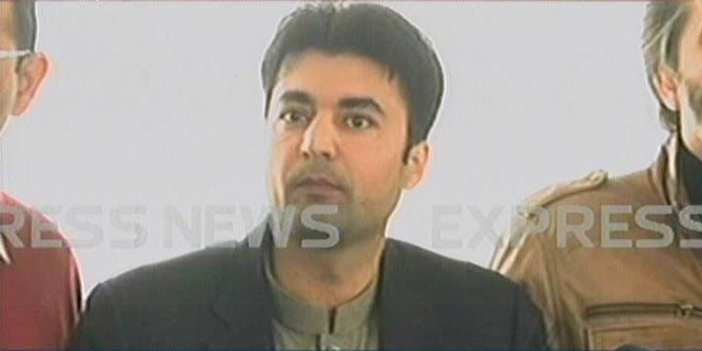 PTI MNA Murad Saeed addresses media outside the National Assembly after a fight broke out between him and PML-N lawmaker Mian Javed Latif on Thursday, March 9, 2017. EXPRESS NEWS SCREENGRAB