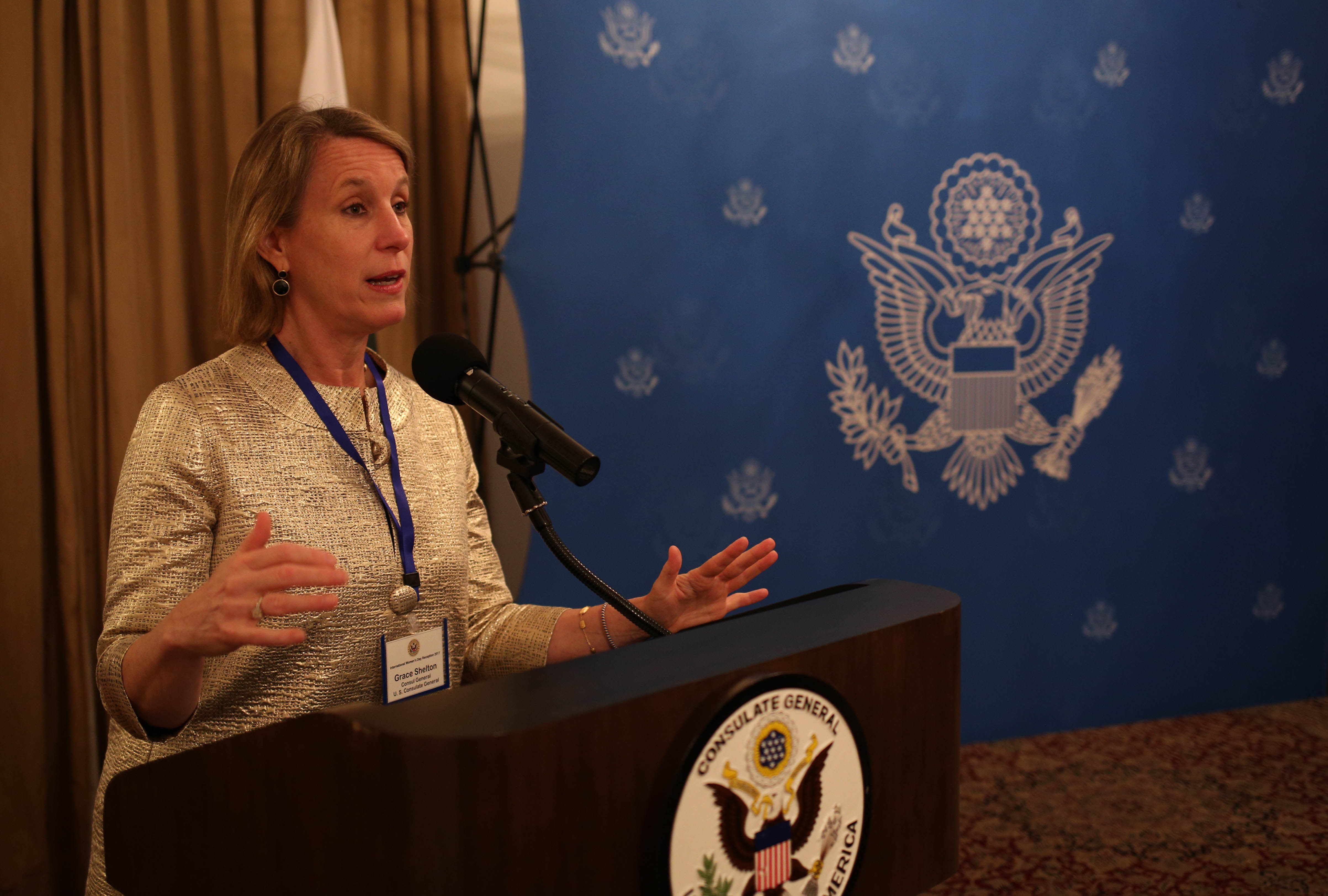 US Consul-General Grace Shelton said they plan to host more networking events in the future and are open to ideas from Pakistan regarding women empowerment and equality. PHOTO: COURTESY US CONSULATE