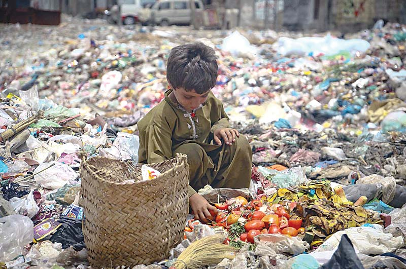No progress: A hundred days ago, Akhtar had launched a drive to clean up the trash lining the streets of the city. Photo: File