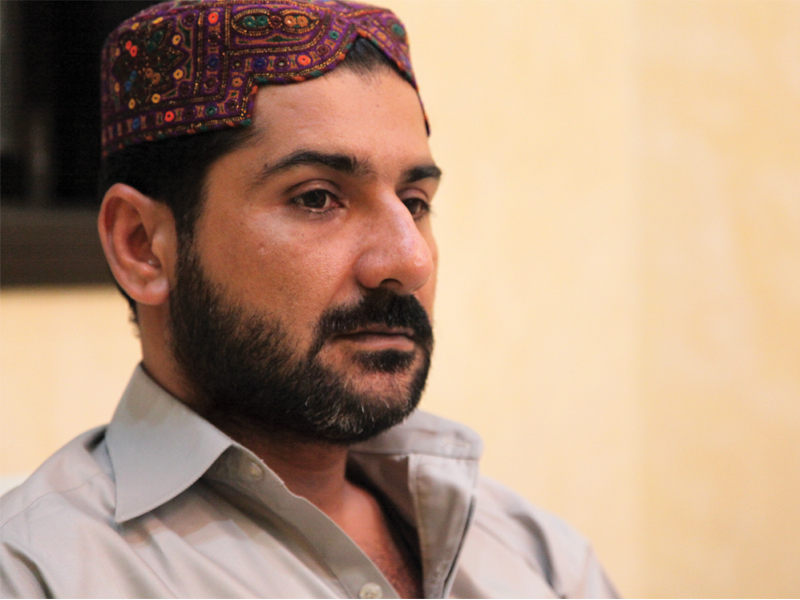 """Are all other areas trouble free? Why don't they go and establish peace in Agra Taj and 90?"" Uzair Jan Baloch. PHOTO: EXPRESS/FILE"