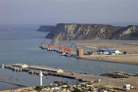 A general view of Gwadar deep-sea port on the Arabian Sea. PHOTO: REUTERS