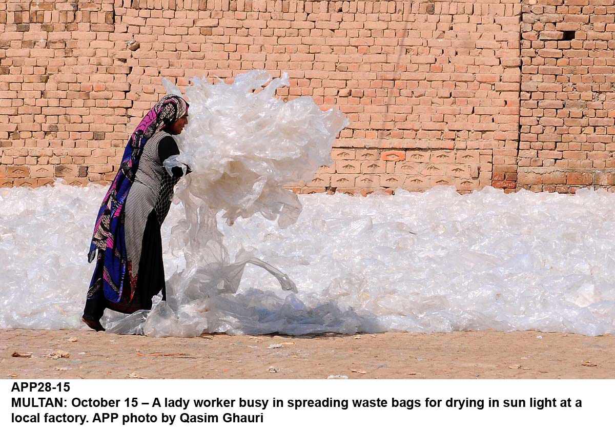 Home-based worker since the age of six, Feroz narrated her tale as a kid living in North Karachi. PHOTO: APP