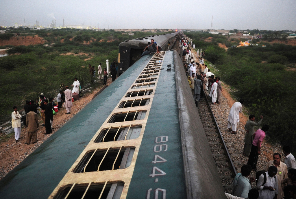The collision took place few kilometres away from the Kotri Railway Junction in Jamshoro. PHOTO: AFP/File