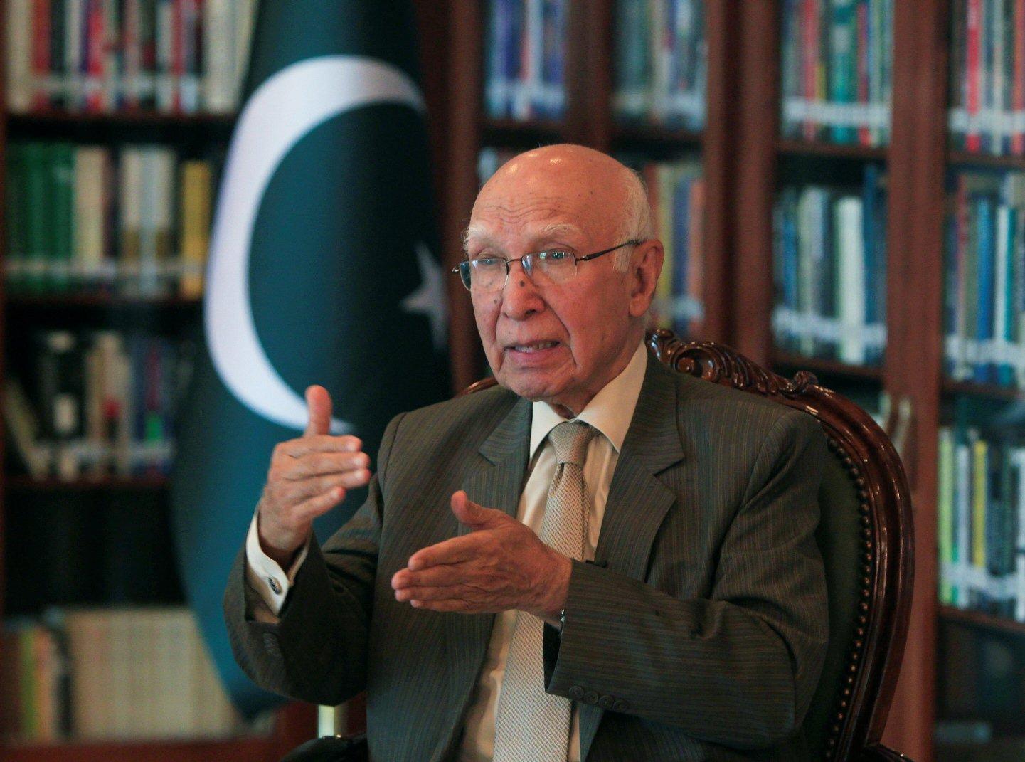 Prime Minister's Adviser on Foreign Affairs Sartaj Aziz. PHOTO: Reuters
