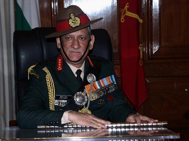 Indian Army Chief General Bipin Rawat accuses Pakistan of using social media to create unrest in IOK. PHOTO COURTESY: ANI