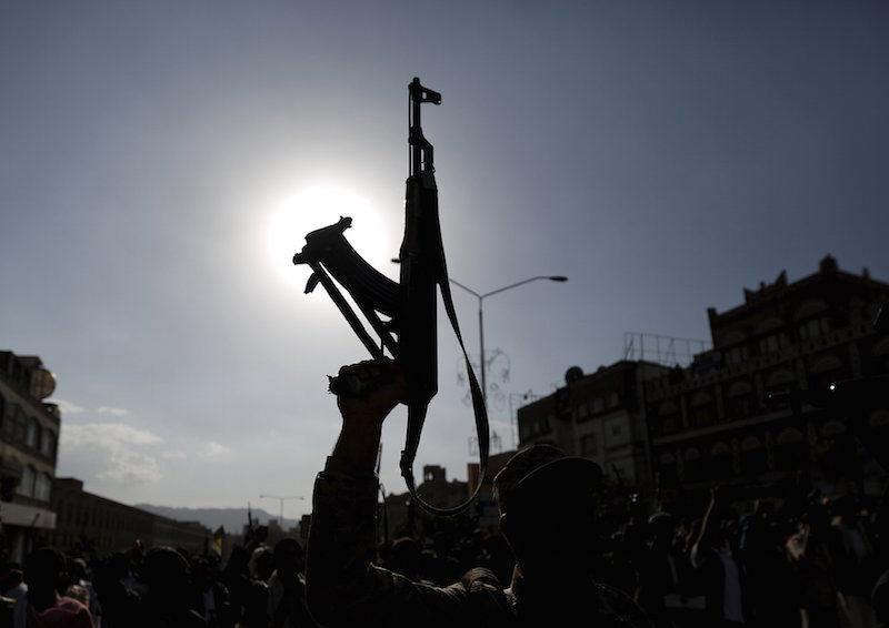 A man holding a gun. PHOTO: REUTERS