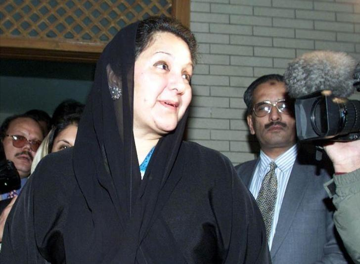 In this file photo, Kulsoom Nawaz, wife of Nawaz Sharif, leaves her Islamabad residence prior to departing the country December 10, 2000. PHOTO: REUTERS