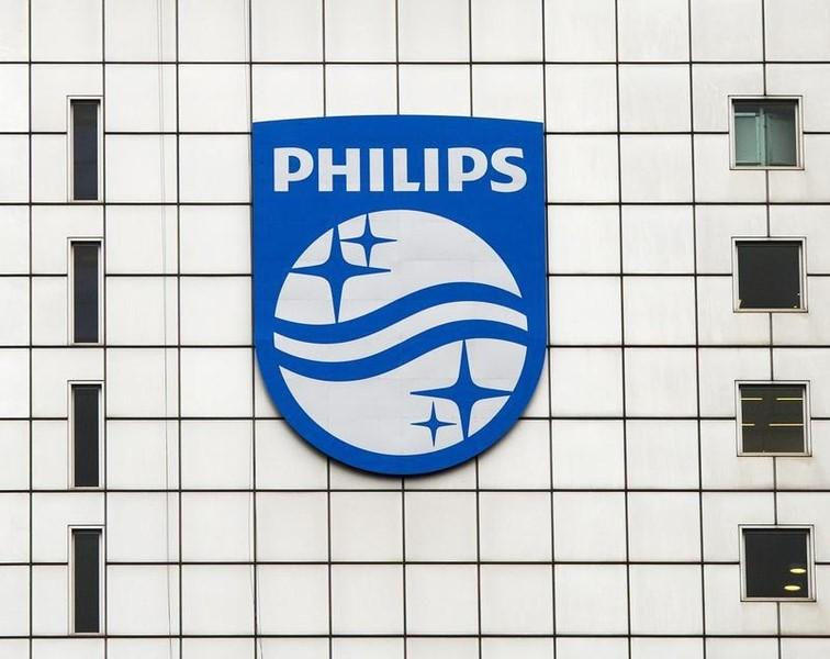 A Philips logo is seen at Philips headquarters. PHOTO: REUTERS