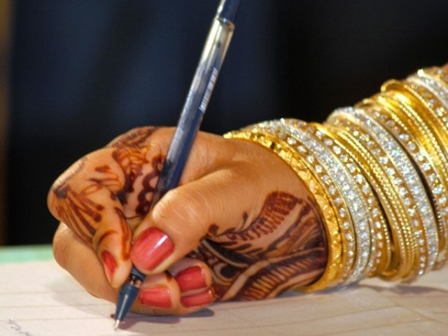 The female officiate solemnised the nikkah of a couple last week. PHOTO: FILE