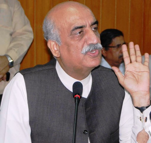 Leader of Opposition in the National Assembly Khursheed Shah. PHOTO: PID