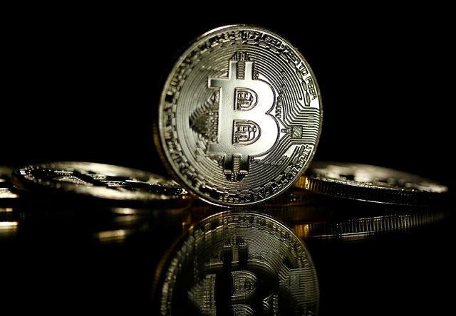 Bitcoins are seen in this illustration picture taken September 27, 2017.  PHOTO: REUTERS