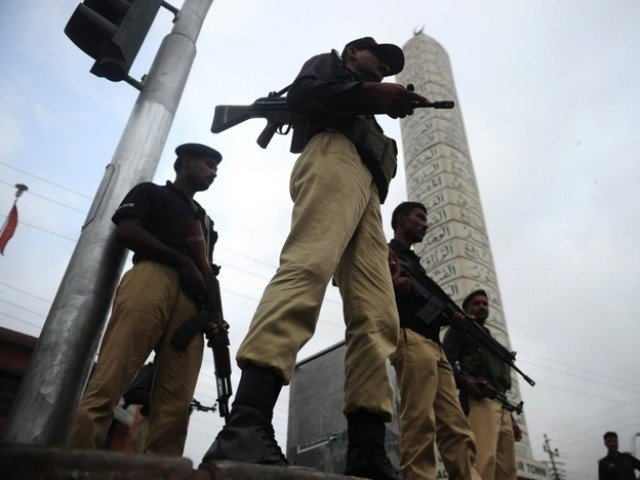 A file photo of Karachi police. PHOTO: AFP