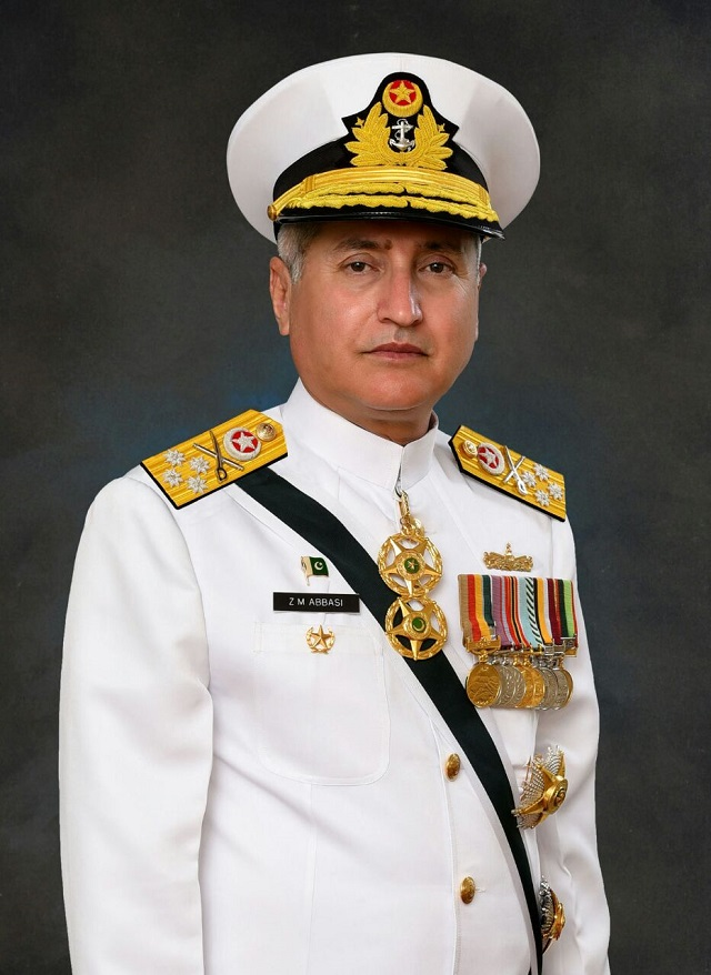 Admiral Zafar Mehmood Abbasi. PHOTO COURTESY: PAKISTAN NAVY