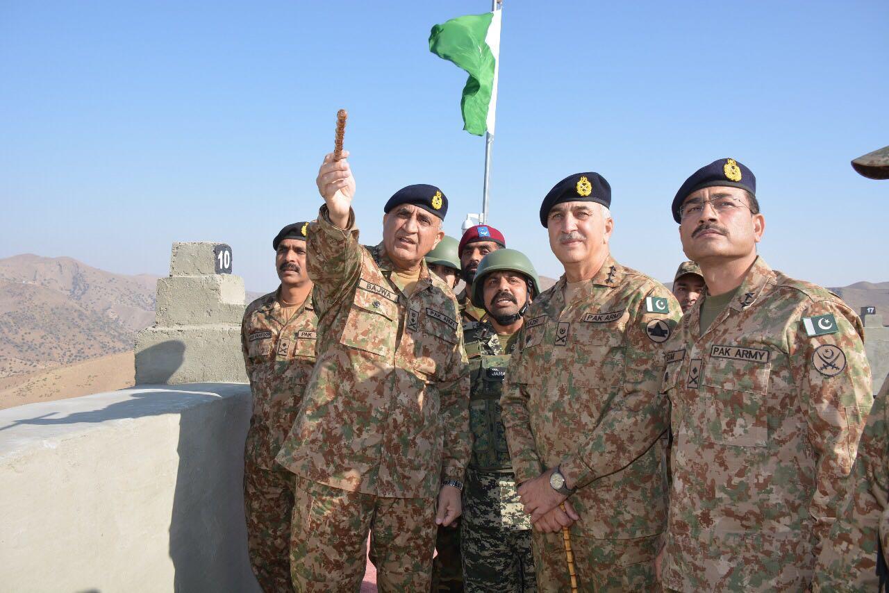 Army chief Gen Qamar Bajwa in North Waziristan on Wednesday. PHOTO: ISPR