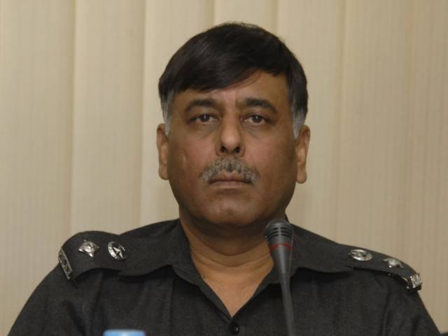 SSP Malir Rao Anwar. PHOTO: MUNAWAR A KHAN/EXPRESS