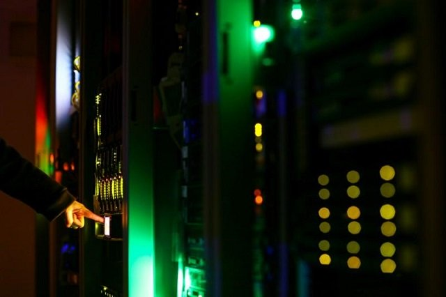 A man poses inside a server room at an IT company in this June 19, 2017 illustration photo.  PHOTO: REUTERS