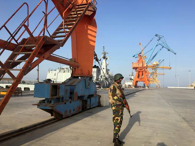 The Gwadar Port, an integral part of CPEC. PHOTO: REUTERS