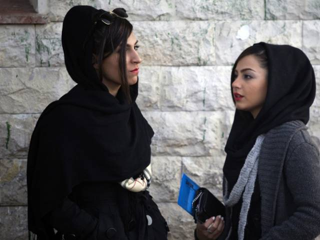 Under Iran's law, women are obliged to cover their hair with a scarf, known as a Hijab, and wear loose-fitting clothes. PHOTO: REUTERS