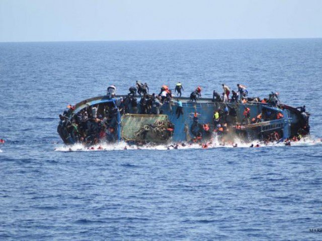 Rescue workers say ten bodies, two Libyan and eight Pakistani nationals, have been recovered. PHOTO: AFP