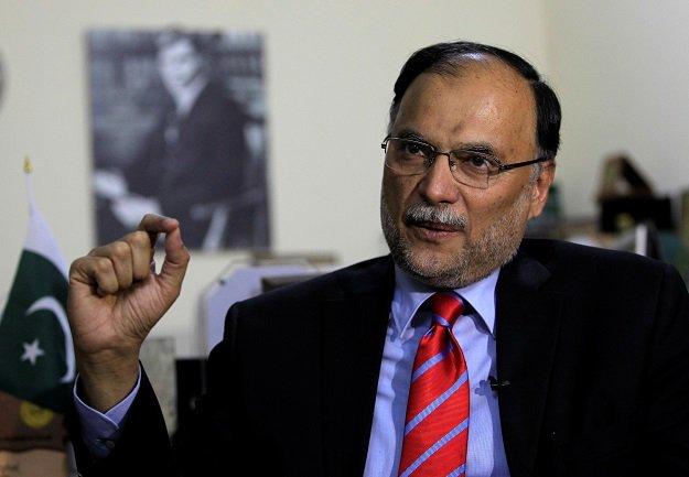 Interior Minister Ahsan Iqbal. : REUTERS