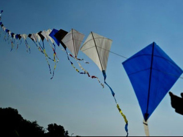 Kite flying banned in capital ahead of basant season during hazards. PHOTO: AFP/FILE