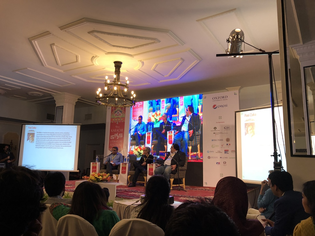 Reality catches up with satire; session at 9th KLF. PHOTO: EXPRESS