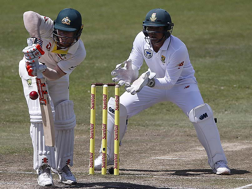 Warner and De Kock were involved in an altercation that led to both players being fined and awarded demerit points by the International Cricket Council. PHOTO: AFP