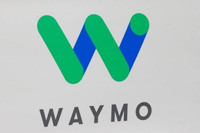 The Waymo logo is displayed during the North American International Auto Show in Detroit, Michigan, US, January 8, 2017. PHOTO: REUTERS