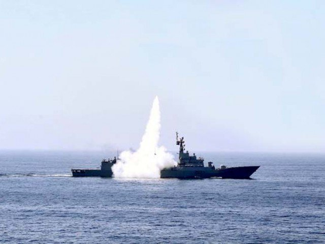 The missile successfully followed its preplanned trajectory till accurate target engagement at sea. PHOTO: INP/FILE