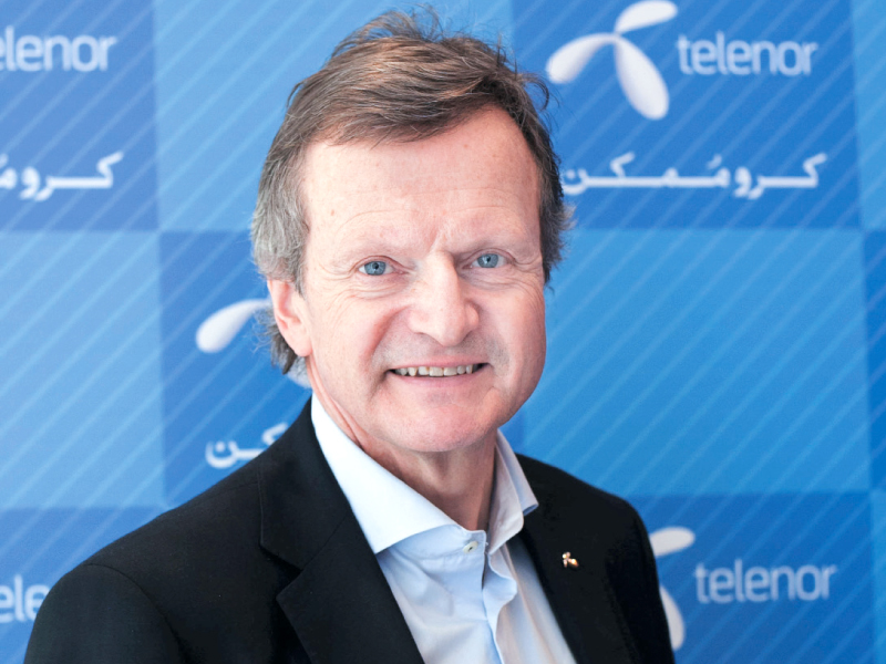 """""""Telenor, as a long-term player, wants to engage and understand the [auction] process before it commits to it,"""" says CEO of Telenor Group Jon Fredrik Baksaas. PHOTO: MYRA IQBAL/EXPRESS"""