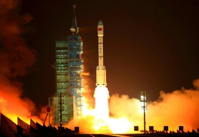 The Tiangong-1 was shot into orbit in September 2011. PHOTO: AFP