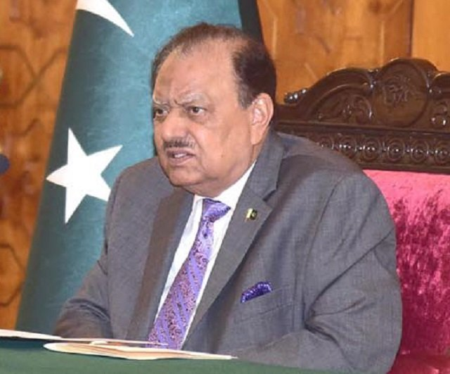 President Mamnoon Hussain says it's important for all institutions to express their differences at the relevant fora. PHOTO: INP